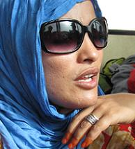 Saharawi filmmaker and refugee Najla Mahamed. Photo by S