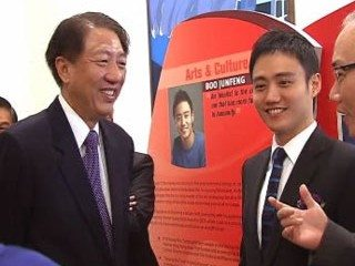 DPM Teo Chee Hean (L) and SYA winner Boo Junfeng