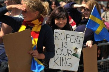 Harry Potter fans gather for the film premiere of Harry Potter and The Deathly Hallows - Part 2