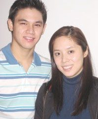 The author with Mart Escudero