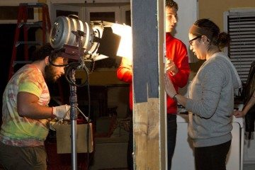 Full Sail University students doing practical work on set. Photo by Aldrin Capulong for The New York Times