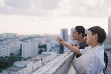 Cinema still from Ilo Ilo starring Angeli Bayani and Koh Jia Ler. Photo: SingTel
