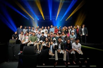 Minister Grace Fu with the winners and jury members for the National Youth Film Awards 2017